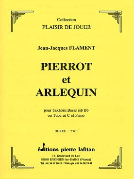 Illustration flament pierrot et arlequin